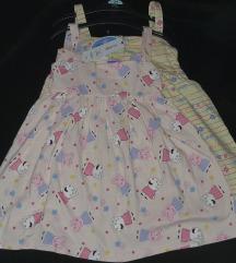Peppa pig 2 haljinice, 98/104