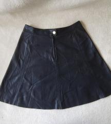 H&M midi suknja od eko koze, M