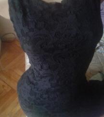 BLONDY  crna cipkana haljina M