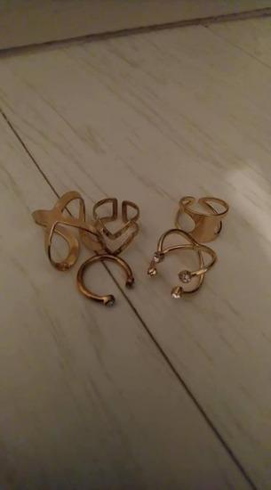 AVON set zlatnih prstenja sa dva lica