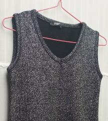 Sivo srebrna prsluk haljina, NOVO, trendi