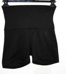 NOVO! Crni H&M šorts za trening, visoki struk