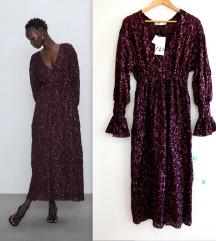 ZARA special edition burgundy haljina