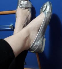 MASCIA srebrne kozne baletanke