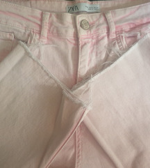 Zara bebi roze 3/4 farmerke