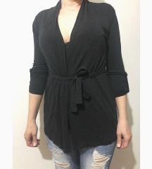 Crni elegantni sako sa čipkom