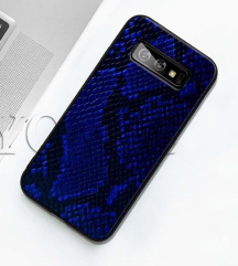 Blu Leather Snake Silicone Case for Samsung A70