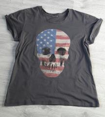 Skull majica američka zastava