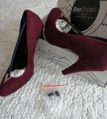 Bordo ženske cipele 38 Novo!