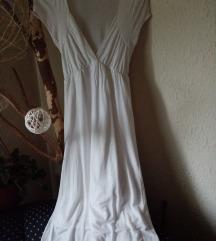 Zara bela pamučna prolećna/letnja haljina