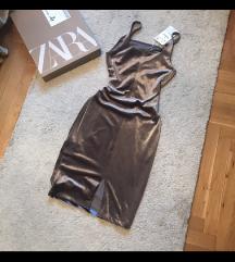 Zara plisana nova haljina
