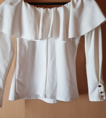 Čamac bela majica sa fodorima