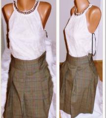 2.1.2.Karirana M mini suknja na falte