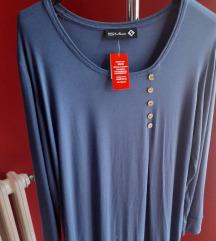 Plava pamucna majica