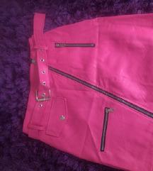 Pink suknja eko koza/novo