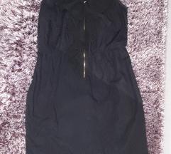 Rainbow crna kratka haljinica CRNA zift