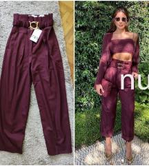 NOVO SA ETIKETOM Zara pantalone sa kaisem