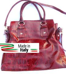 rezz crvena kozna italijanska tasna