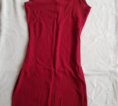 Bordo uska haljina