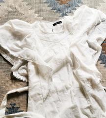 rezz Reserved bela haljina s leptir rukavima