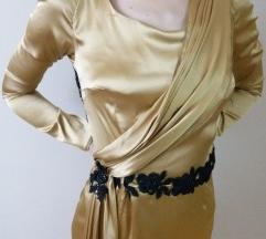 Svečana haljina sa čipkom - dizajnerski unikat!