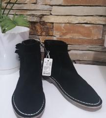 ESPRIT kožne crne cizme