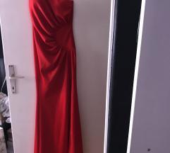 Crvena svecana haljina + poklon sandale