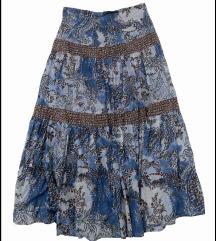 Prelepa sarena maksi suknja kao nova L