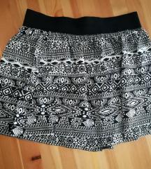 Aztec print suknja