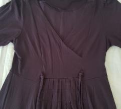 Zara tamno ljubicasta haljina