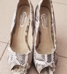 Animal print cipele sa drvenom štiklom
