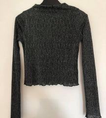 Zara metalizirana crop bluzica XS/S