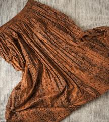 rezz Koton suknja u narandzastom printu zmije