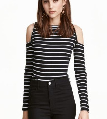 H&M majica gola ramena