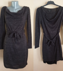 NOVA Tamno siva haljina 36-38