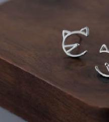 Srebro 925 - minđuše mace