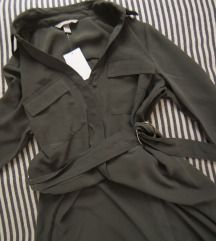 Kaki safari HM haljina, vel. 36