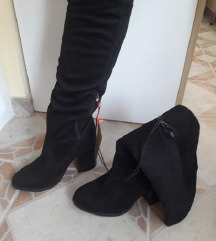 TELLY WEIJL crne duboke cizme sa etiketom 25cm