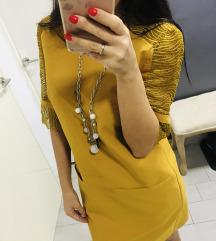 Haljina boje senfa