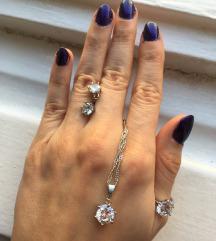 Set nakita (lancic, prsten, mindjuse) NOVO