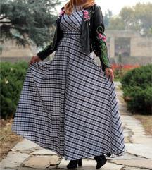 Duga haljina tartan NOVO