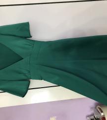 ASOS satenska smaragndo zelena haljina
