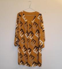 Haljina boje senfa slobodan pad