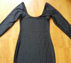 Crna haljinica od likre nova- fenomenalna M
