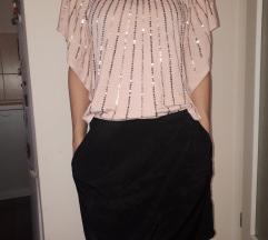 Majica sljokice, suknja H&M