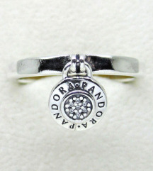 Pandora Signature Padlock prsten srebro ale s925
