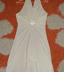 Bela svečana haljina, gola ledja M