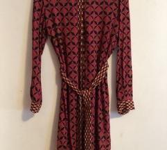 ZARA - haljina sa ruskom kragnom VISKOZA