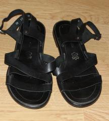 Crne kozne sandale
