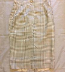 High waist cigaret suknja
